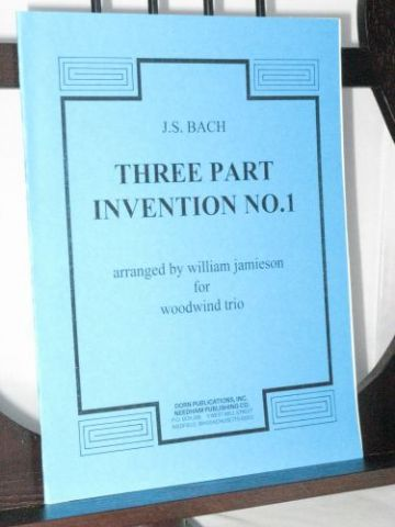 Bach J S - Three Part Invention No 1 arr Jamieson W